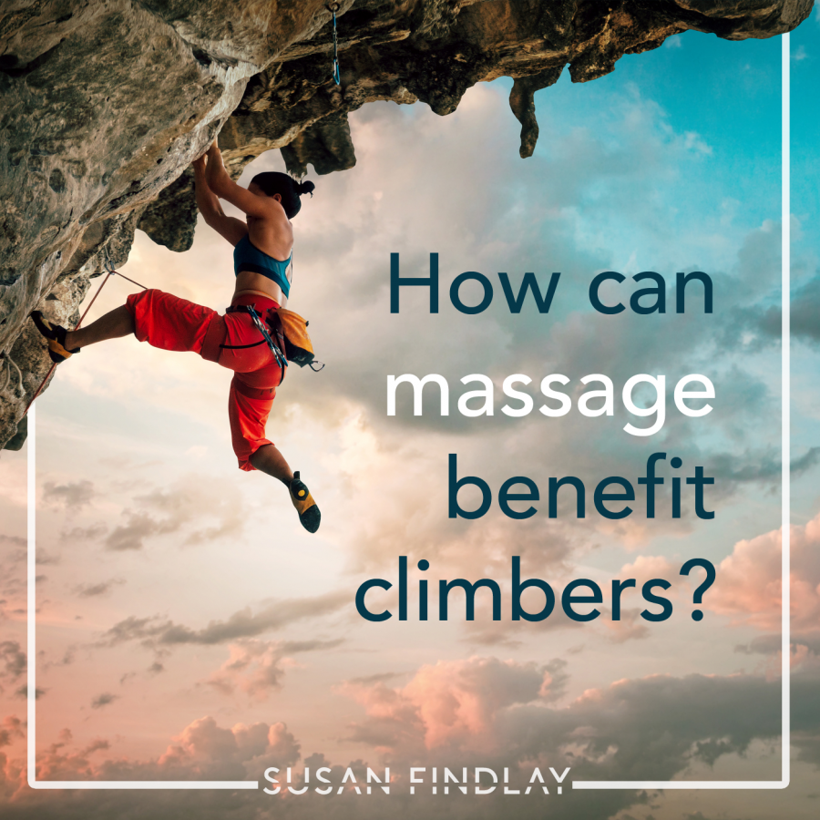 How can massage aid climbers
